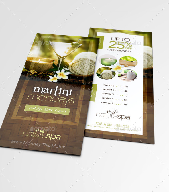 Spa Rack Card Business Card Template by thatdesignerchic – Rack Card Template