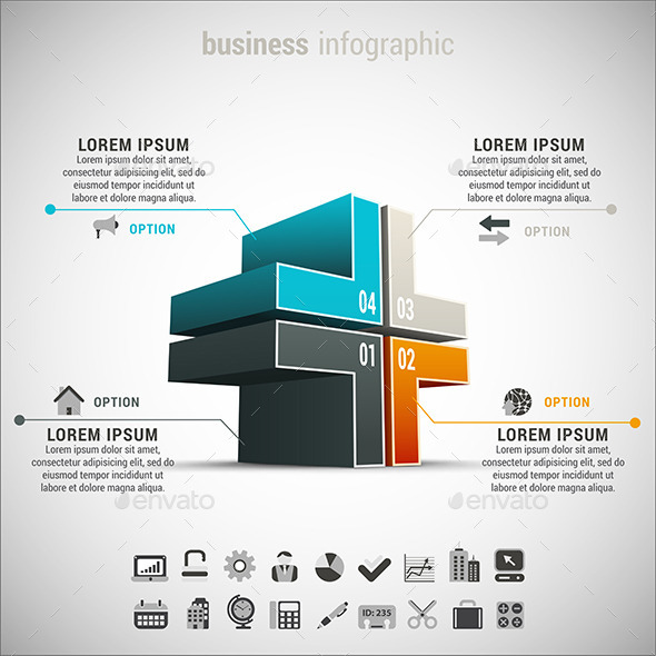 GraphicRiver Bundle of 12 Business Infographics 10047461