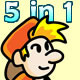 5 in 1 Starter Kit Games - HTML5