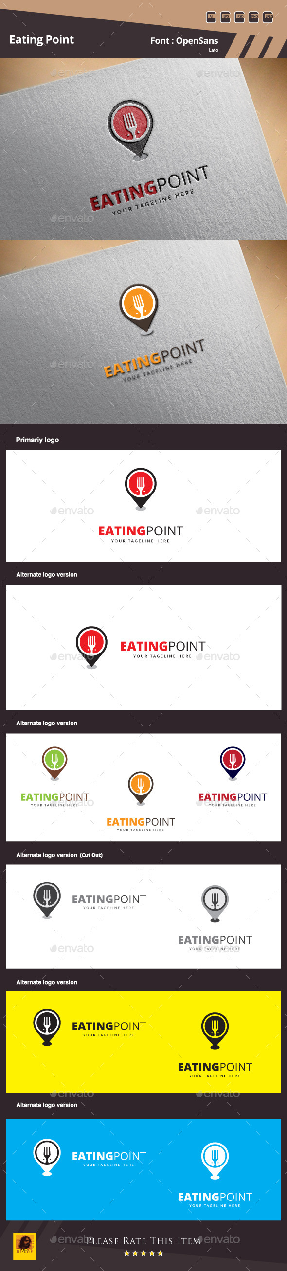 GraphicRiver Eating Point Logo Template 10047874