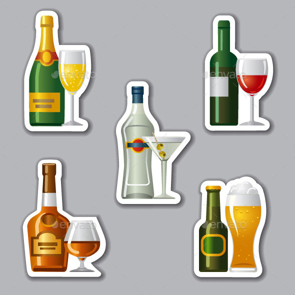 Alcohol Drinks Stickers