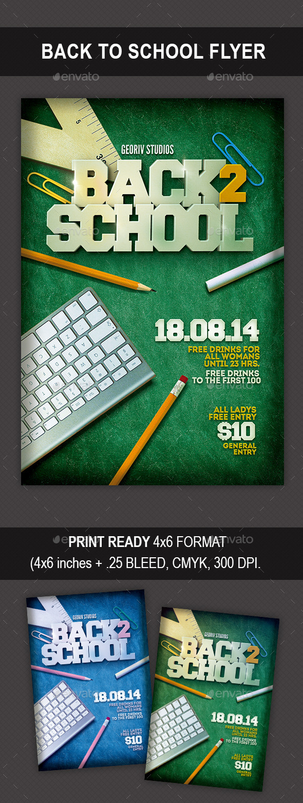 GraphicRiver Back to School Flyer 10047912