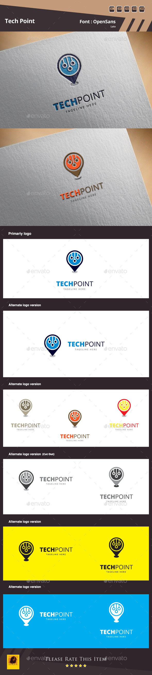 GraphicRiver Tech Point Logo Template 10047971
