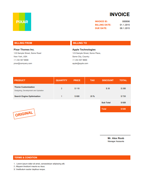 Invoicer - Invoices Generator App by pixarwpthemes   CodeCanyon