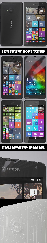 3DOcean Microsoft Lumia 535 Black 10048002