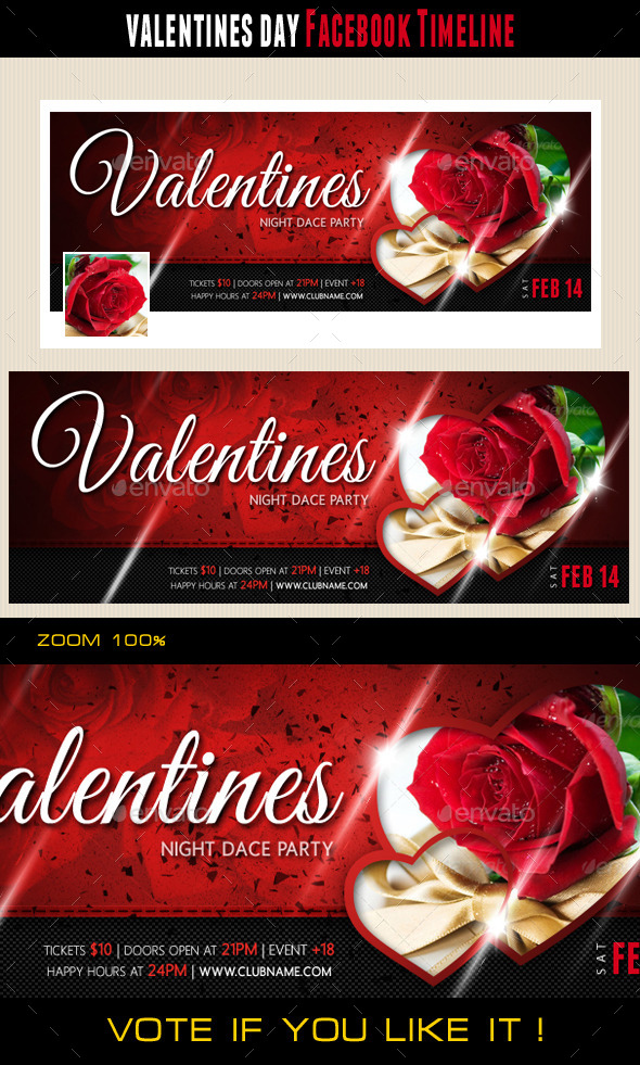 GraphicRiver Valentines Day Facebook Cover 10048016