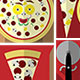 Build a Pizza Flat Illustration Kit