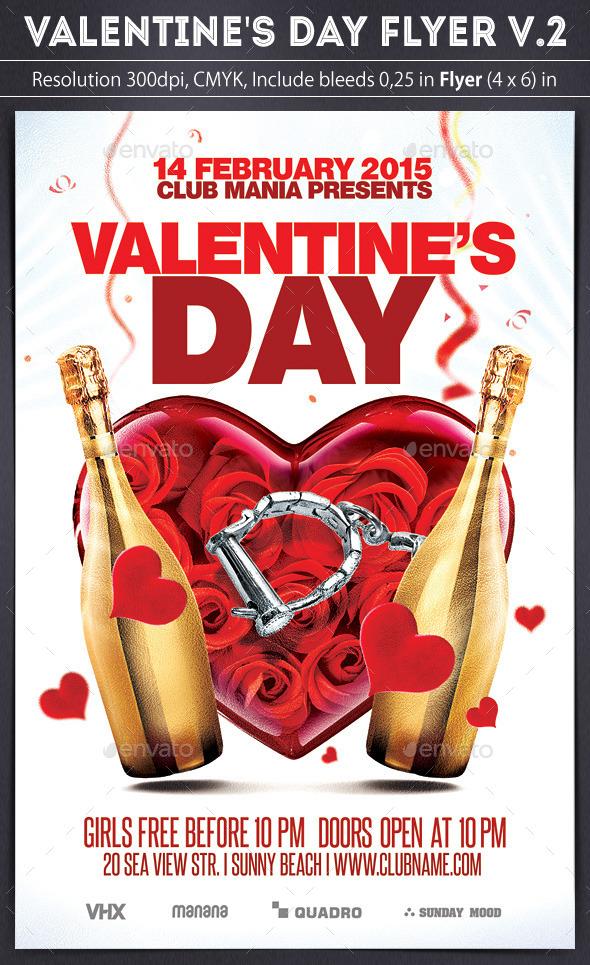 GraphicRiver Valentine s Day Flyer v.2 10048060