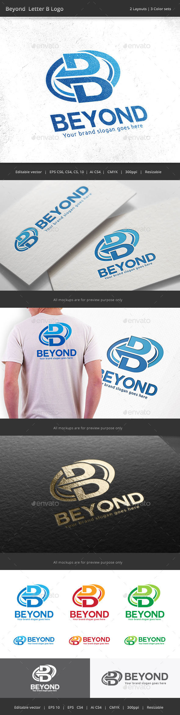GraphicRiver Beyond Letter B Logo 10048066