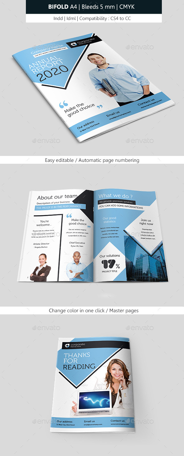 GraphicRiver Bifold Business Brochure Template 10048122