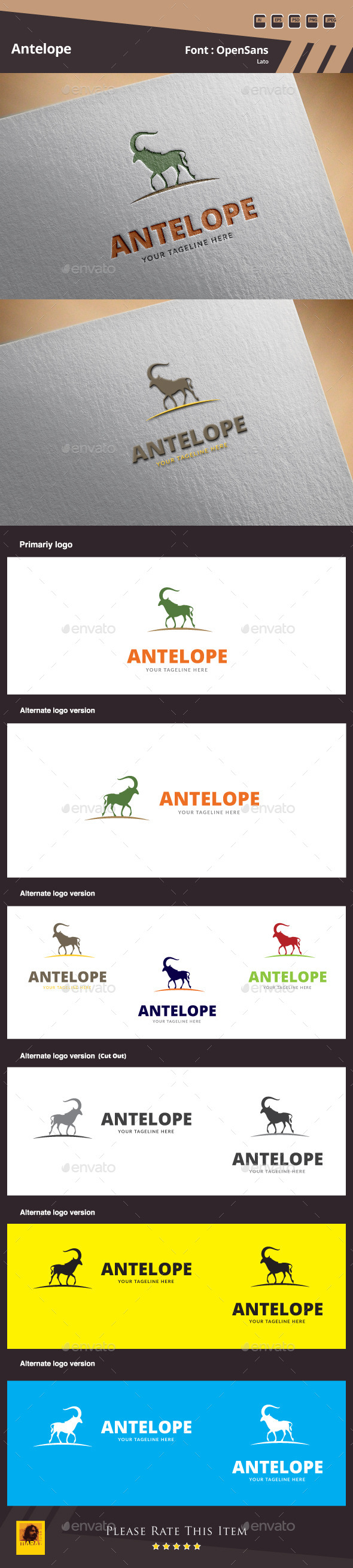 GraphicRiver Antelope Logo Template 10048128