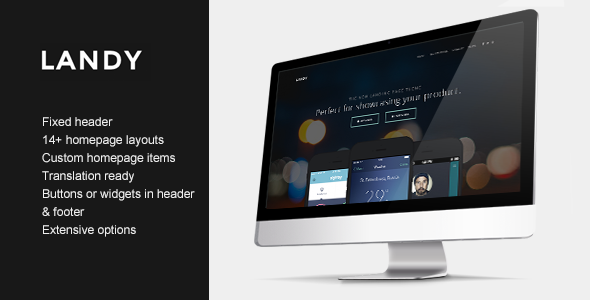 ThemeForest Landy Clean & Sleek Landing Page Theme 9819348