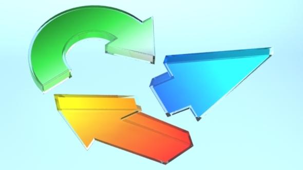 3DOcean Set of 22 Glassy Arrows 10048798