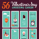 Set of Valentines Day Greeting Cards  - GraphicRiver Item for Sale