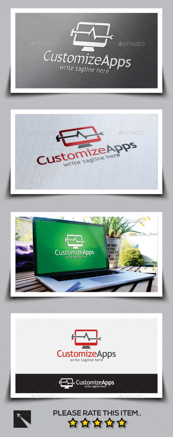 Customize Apps Logo Template