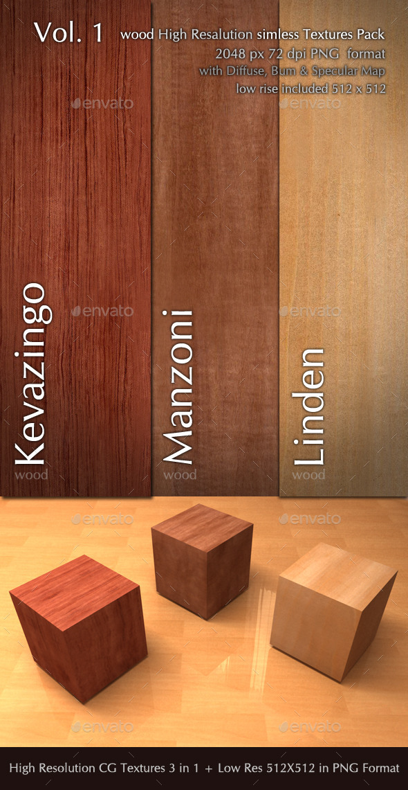 3DOcean Wood CG Textures High Resulution seamless 3 in 1 10049084