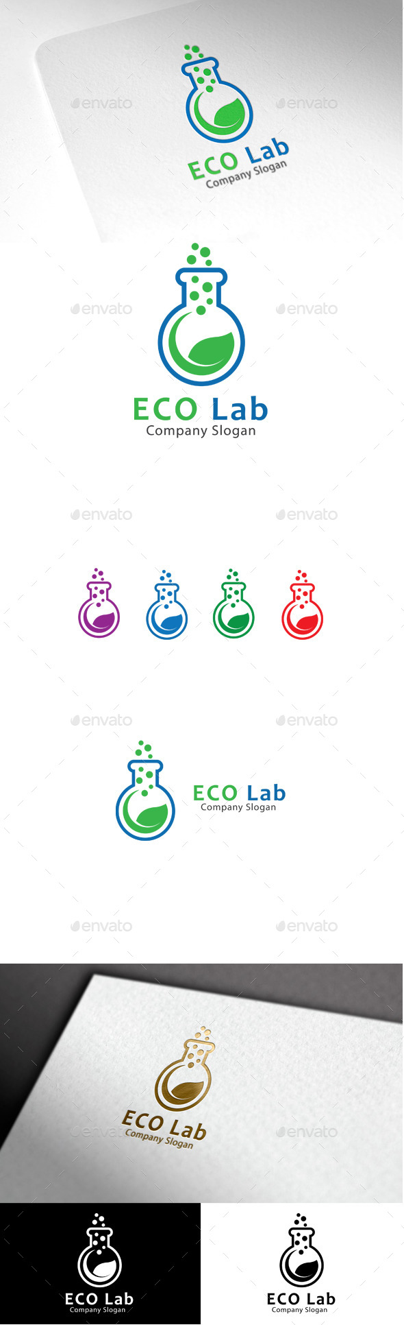 GraphicRiver Eco Lab Logo 10049193
