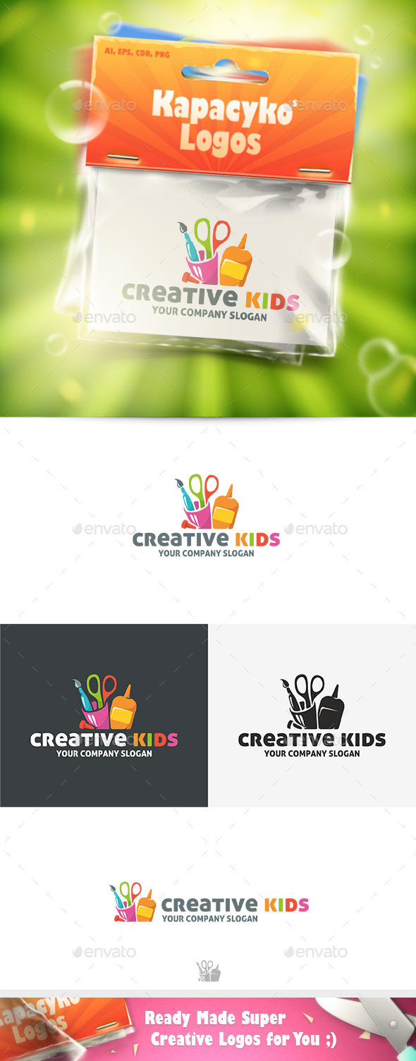 GraphicRiver Creative Kids Logo 10049211