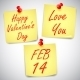 Valentines Day Notes - GraphicRiver Item for Sale