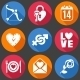 Flat Love Icons - GraphicRiver Item for Sale
