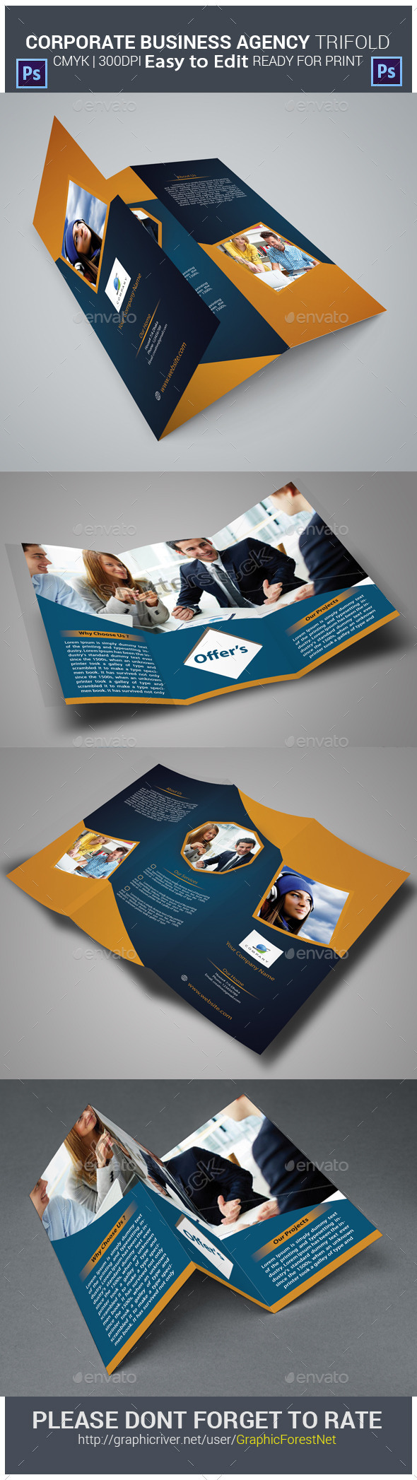 GraphicRiver Corporate Business Agency Tri-fold Brochure 10049391