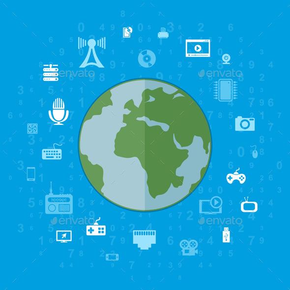 GraphicRiver Communication Planet 10049489