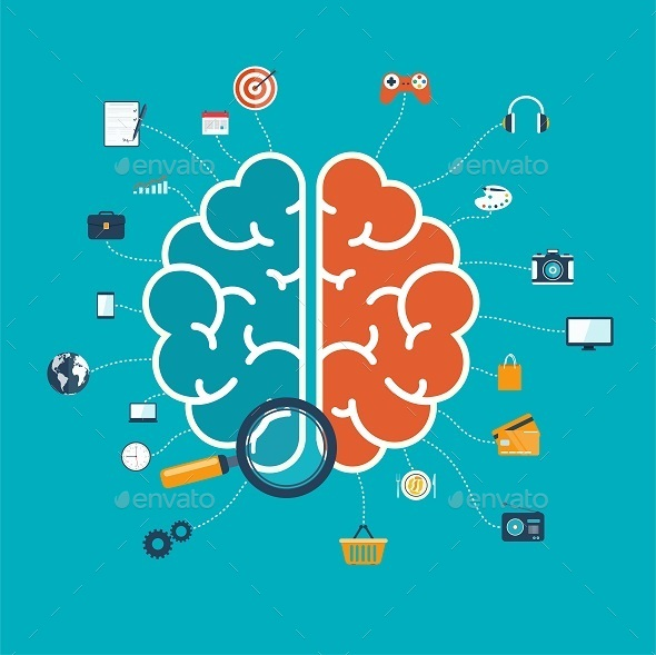 GraphicRiver Brain with Icons 10049544
