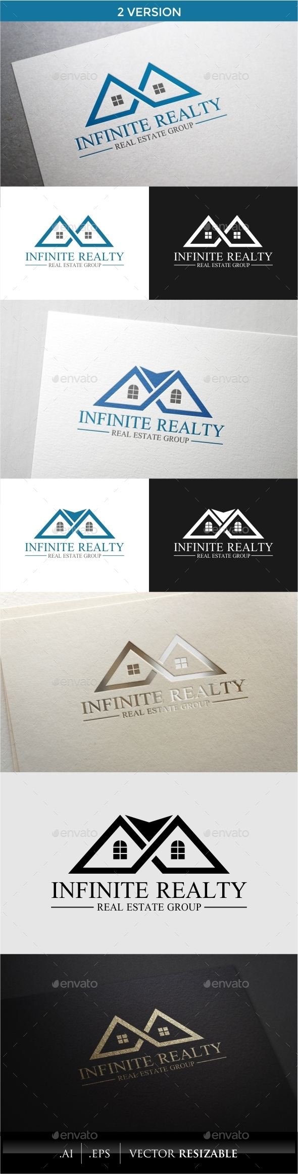 GraphicRiver Infinite Realty Logo 10049547