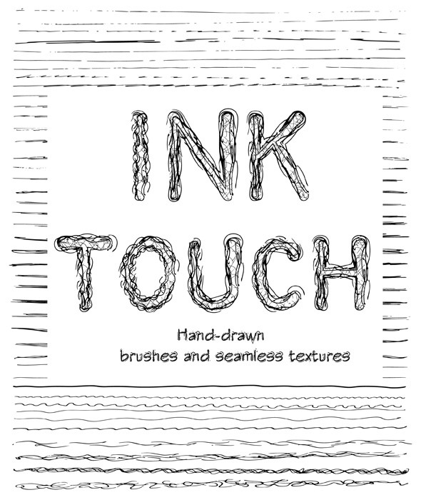 GraphicRiver Creative Ink Sketch Lines and Patterns 9951522