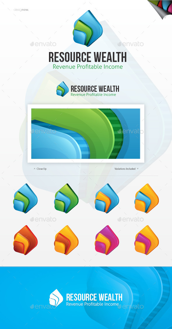 GraphicRiver Resource Wealth Logo 10049612