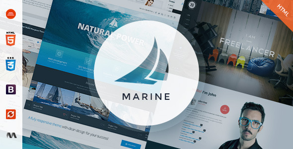 ThemeForest Marine Responsive MultiPurpose HTML5 Template 9968298