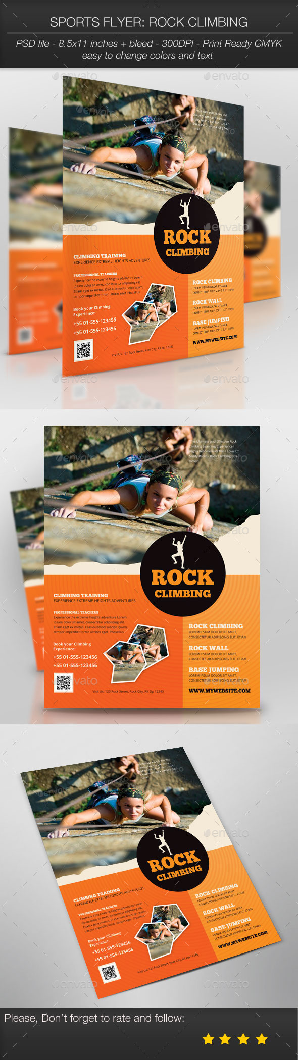 GraphicRiver Sports Flyer Rock Climbing 10049698