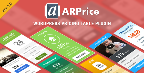 CodeCanyon ARPrice Ultimate Compare Pricing table plugin 10049883
