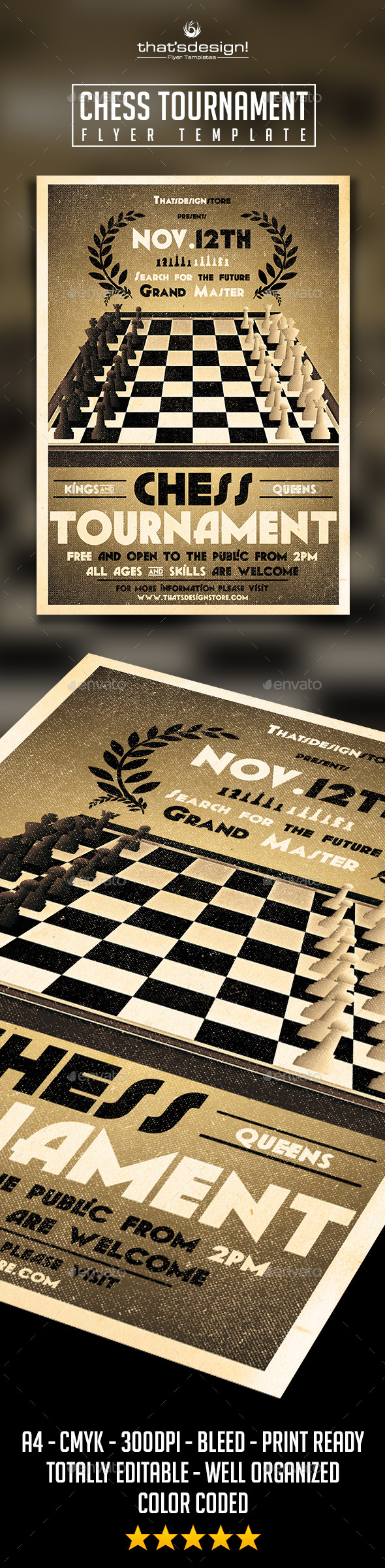 GraphicRiver Chess Tournament Flyer Template 10049895