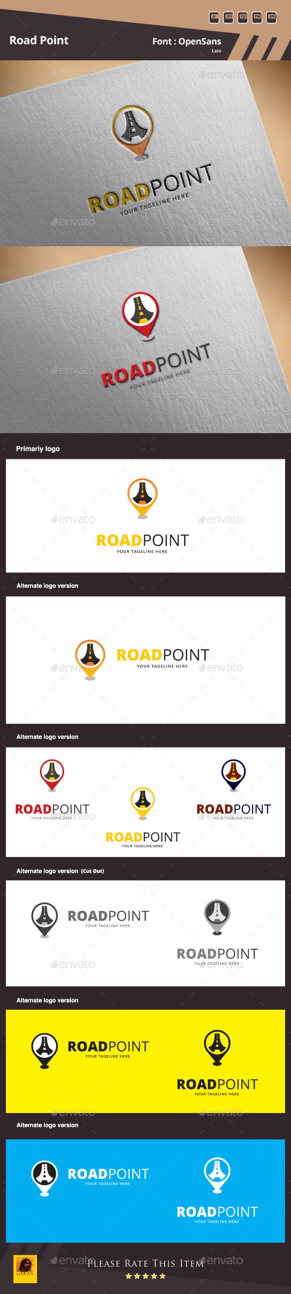 GraphicRiver Road Point Logo Template 10049943