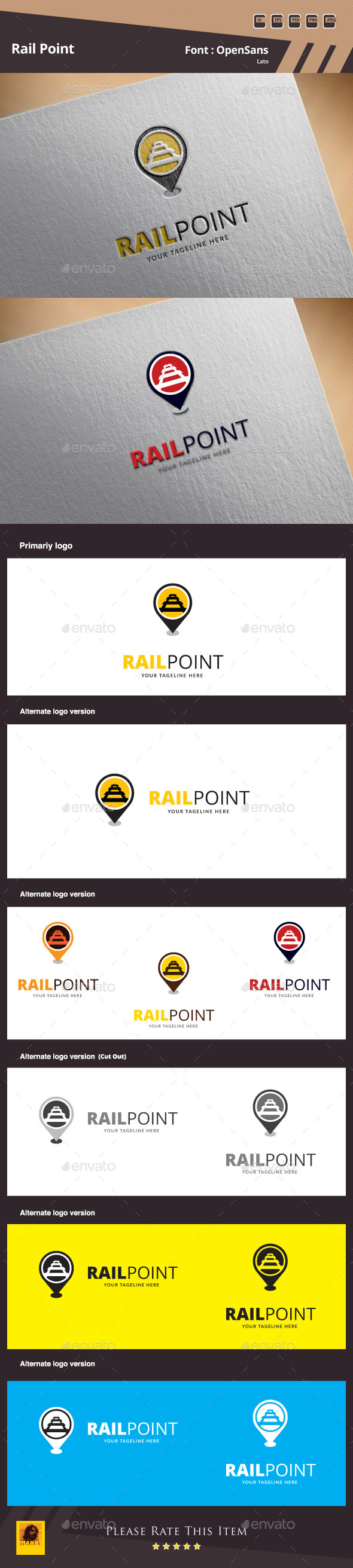 GraphicRiver Rail Point Logo Template 10050006