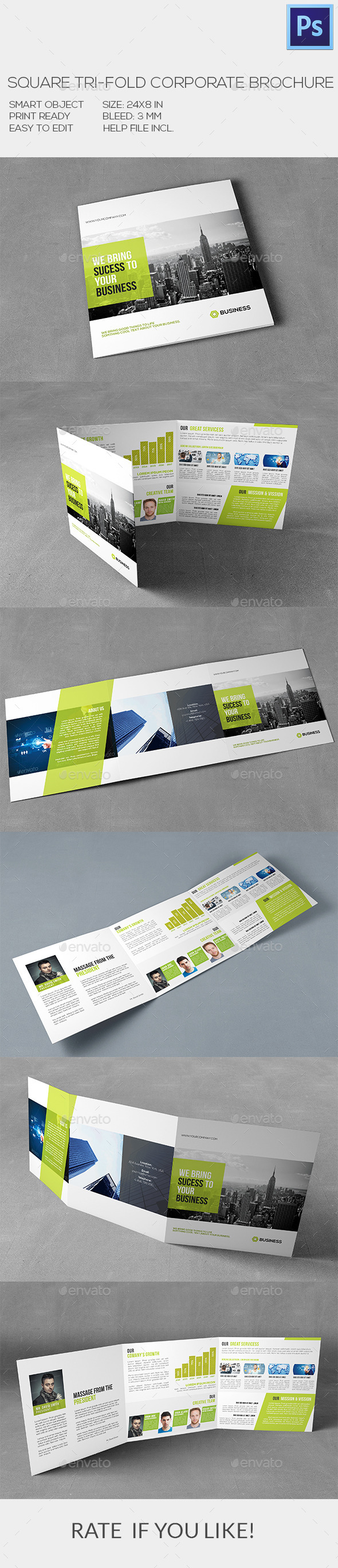 GraphicRiver Square Corporate Brochure 10050694