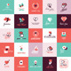 Set of Valentines Signs and Banners - GraphicRiver Item for Sale