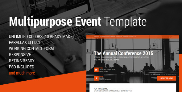 ThemeForest Event Conference & Event HTML5 Landing Page 10050747