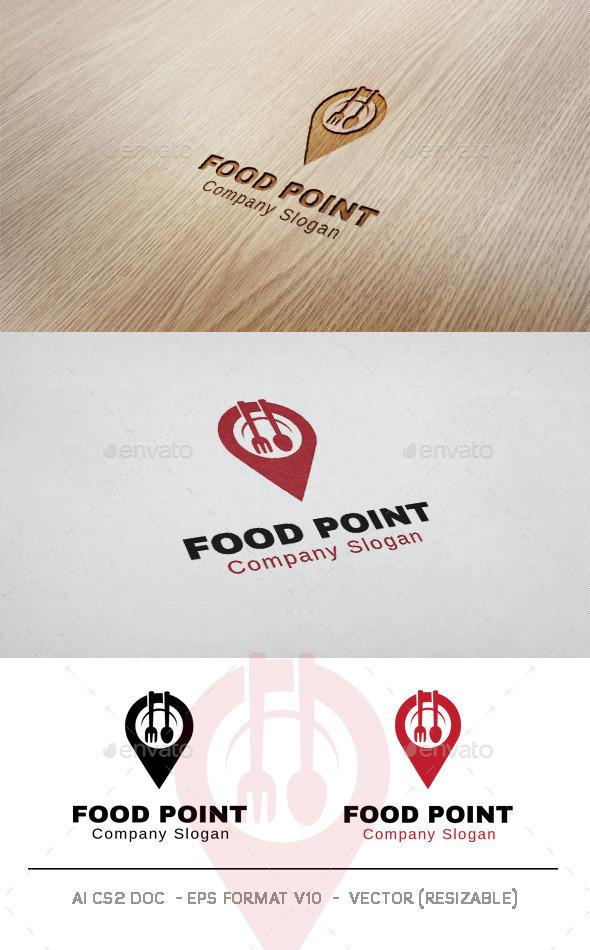 GraphicRiver Food Point V2 Logo 10050859