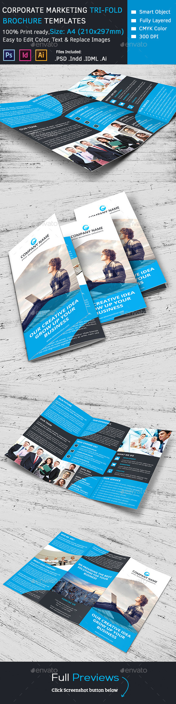 GraphicRiver Corporate Marketing Tri-Fold Brochure 10050940