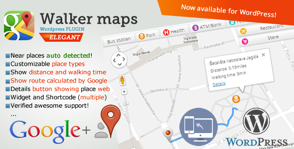 CodeCanyon Google Places Walker Maps 10050947