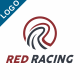Letter R Logo Template - Red Racing