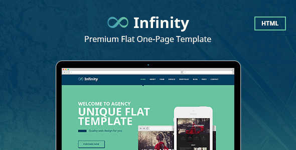 ThemeForest Infinity Flat One Page HTML Template 9984302