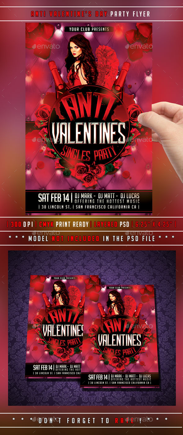 GraphicRiver Anti Valentines Day Flyer 10051784