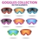 Set of Classic Snowboard Ski Goggles - GraphicRiver Item for Sale