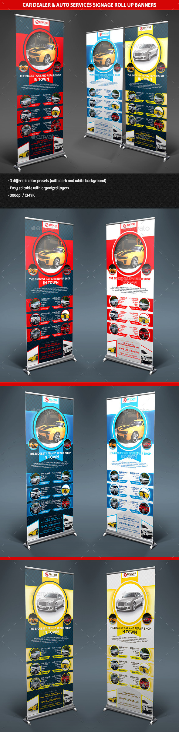 GraphicRiver Car Dealer & Auto Services Signage Roll Up Banners 10051786