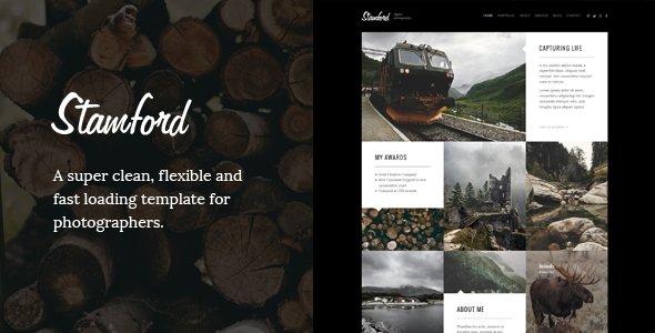 ThemeForest Stamford HTML5 Photography Portfolio & Blog 10052178