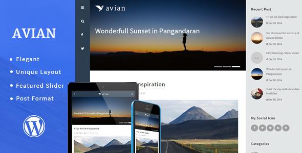 ThemeForest Avian Elegant Personal Blog 9949433