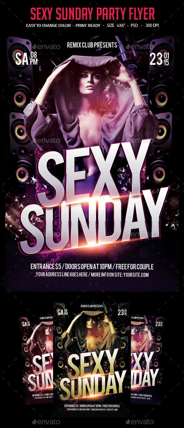 Sexy Sunday Party Flyer